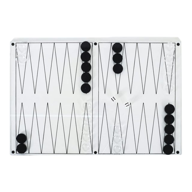 Lucite Backgammon Game, Italy 1970 For Sale
