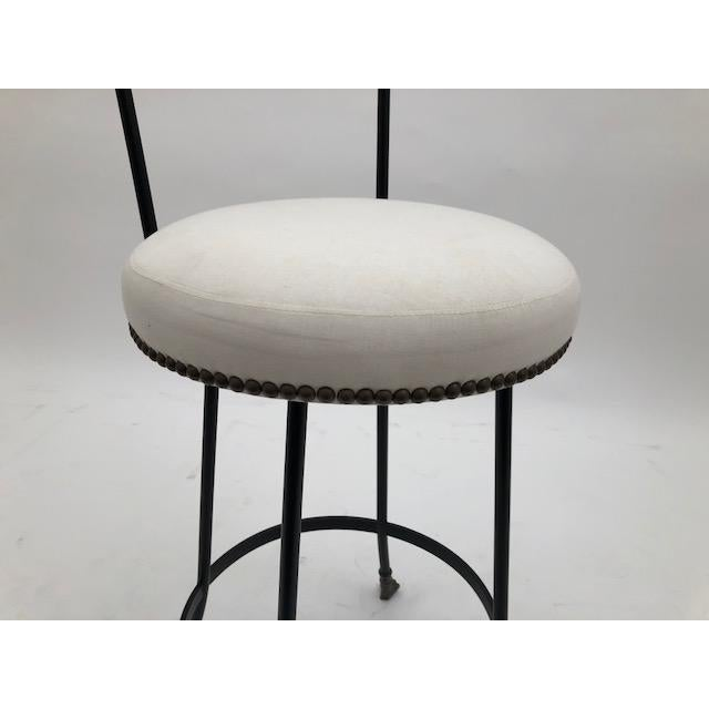 Cast Bronze and Black Iron Barstool (Bar Height) For Sale In New York - Image 6 of 7