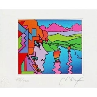 Peter Max Geometric Profile & Sailboats 2001 For Sale