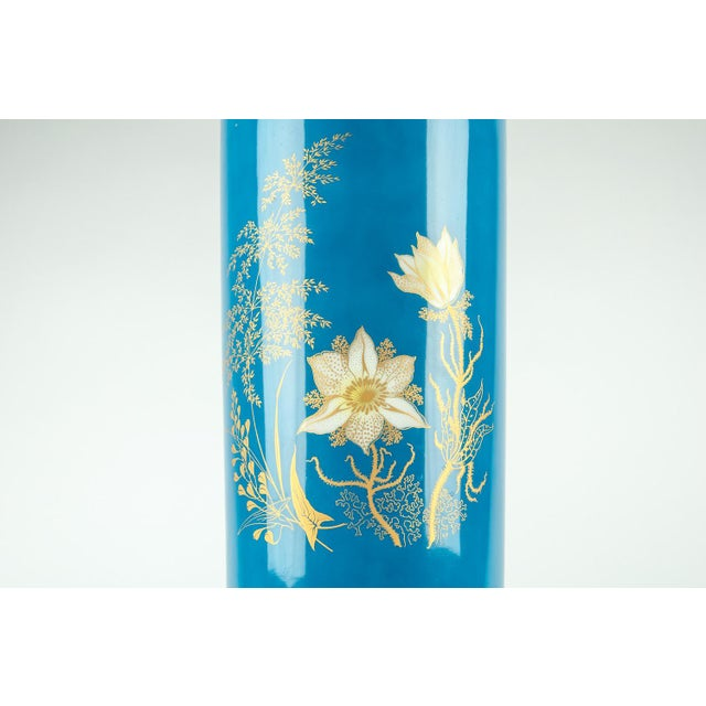Mid-Century Modern Very Tall Vintage Bavarian Porcelain Vase For Sale - Image 3 of 9