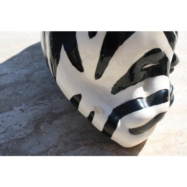 Vintage Mid-Century Modern Ceramic Zebra - Image 5 of 8