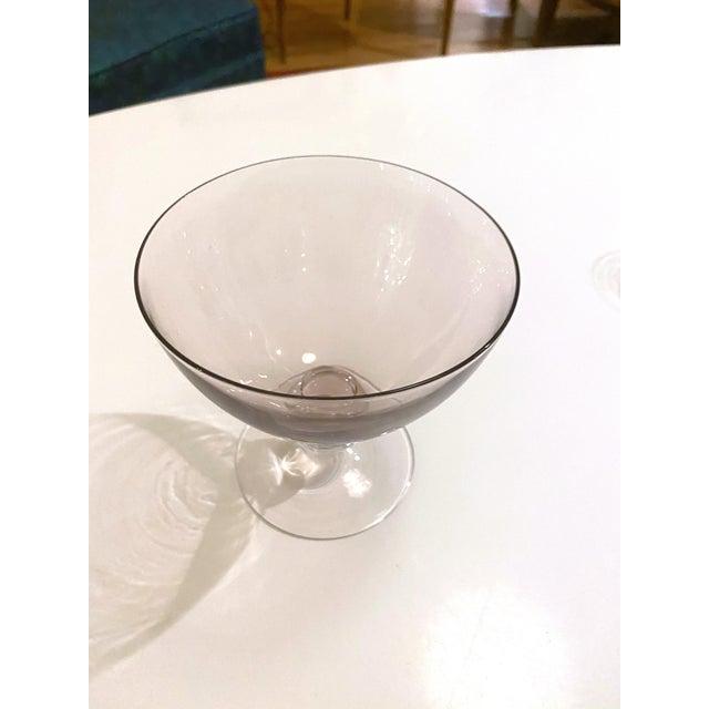 Vintage 1950's Scandinavian Hand Bowl Glass Colorful Desert Glasses - a Set of 4 For Sale - Image 4 of 11