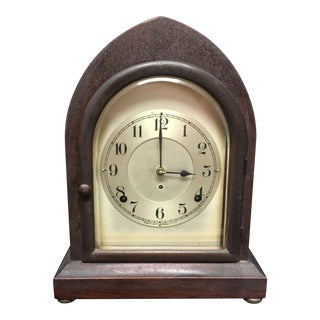 Antique 1910s Seth Thomas Clock Company Wooden Clock For Sale