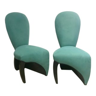 1980s BespokePostmodern Occasional Chairs - a Pair For Sale