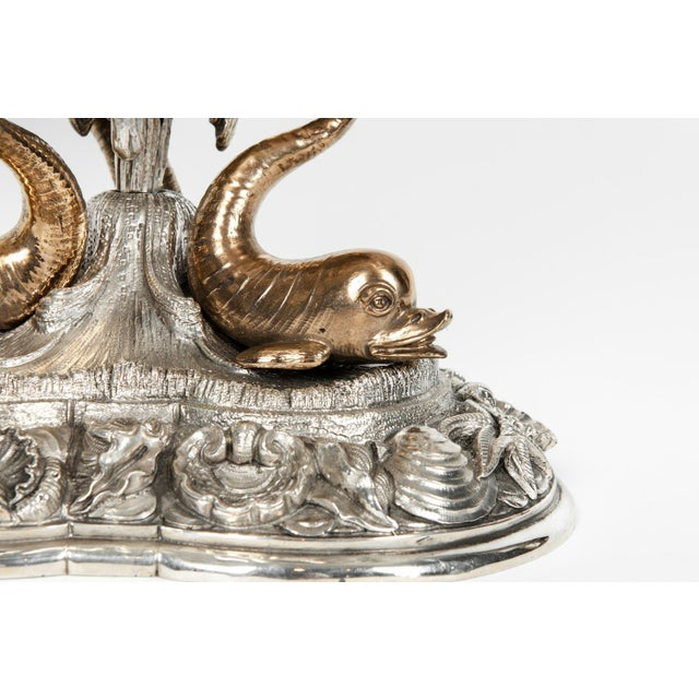Large Antique Sterling Silver Centerpiece For Sale - Image 10 of 13