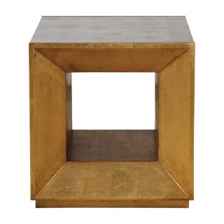 Contemporary Beveled Open Cube Table For Sale