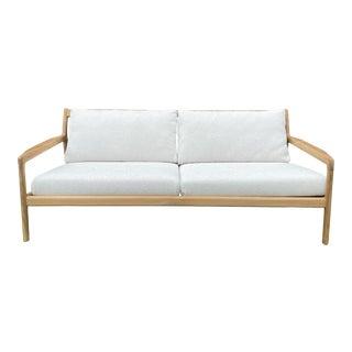Teak Wood Modern Outdoor Indoor Sofa For Sale