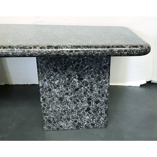 Black Mid-Century Granite Coffee Table For Sale - Image 8 of 11