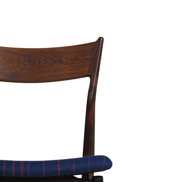 Mid-Century Modern H. P. Hansen for Randers Danish Rosewood Dining Chairs - Set of 6 For Sale - Image 3 of 11