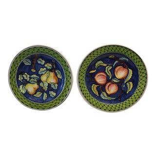 Italian Ceramiche Artistiche Montelupo Plates - a Pair For Sale