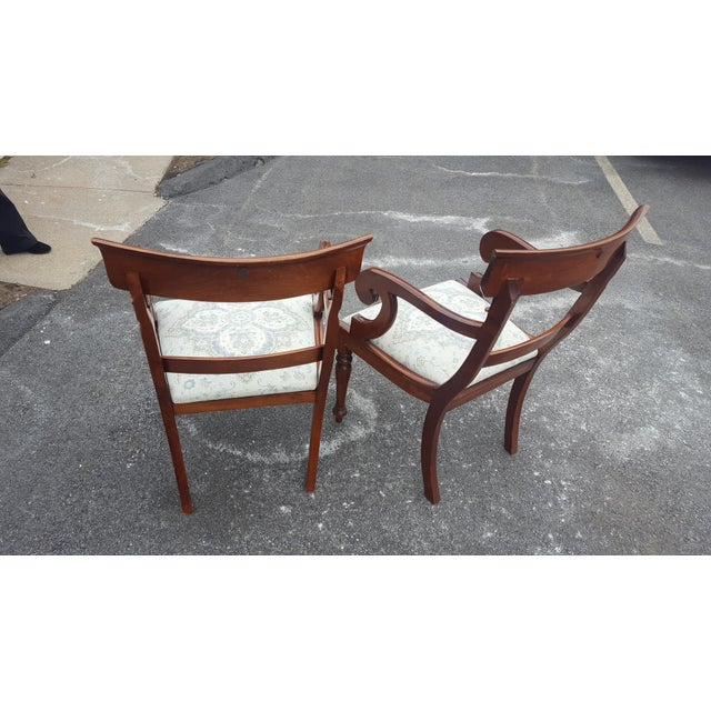 Traditional Wood Arm Chairs - A Pair - Image 4 of 7
