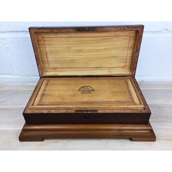 Rare H.Upmann Vintage Cigar Tobacco Box Humidor For Sale - Image 5 of 11