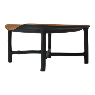 Bended Coffee Table in Oak by Valentin Loellmann For Sale