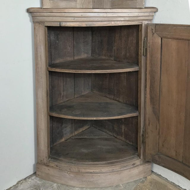 Pair 19th Century Country French Stripped Oak Corner Cabinets For Sale In Dallas - Image 6 of 13