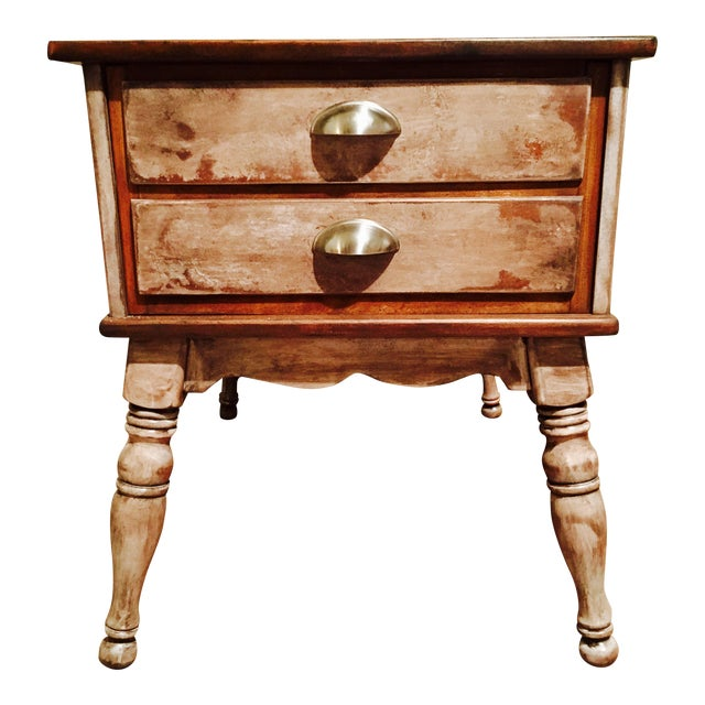 Farmhouse Rustic Side Table - Image 1 of 11