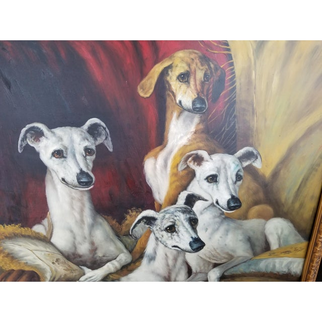 Maitland Smith-Style Greyhound Dog Painting For Sale - Image 5 of 10