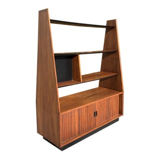 Mid Century Modern Free Standing Wall Unit For Sale