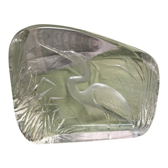 Heron Art Glass Sculpture by Mats Jonasson - Image 1 of 7