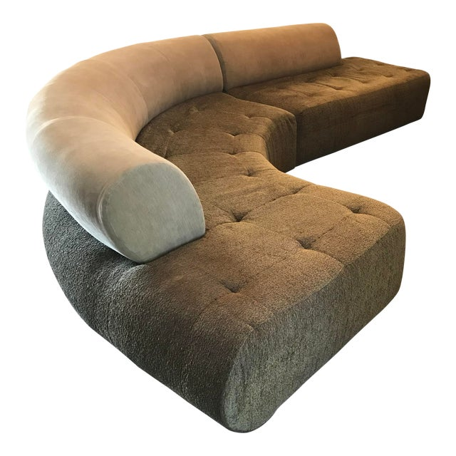 1990s Sculptural Post Modern Curved Italian Sectional For Sale