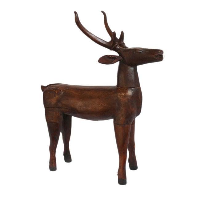Antique Javanese Wood Deer For Sale