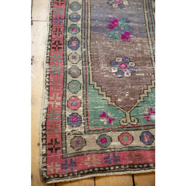 "Textile Vintage Distressed Oushak Rug Runner - 2'4"" X 4'10"" For Sale - Image 7 of 9"