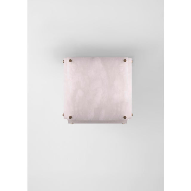 Orphan Work Contemporary 002a Flush Mount in Alabaster by Orphan Work, 2018 For Sale - Image 4 of 4