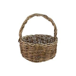 "Woven Natural Grape Vine 18"" Basket For Sale"