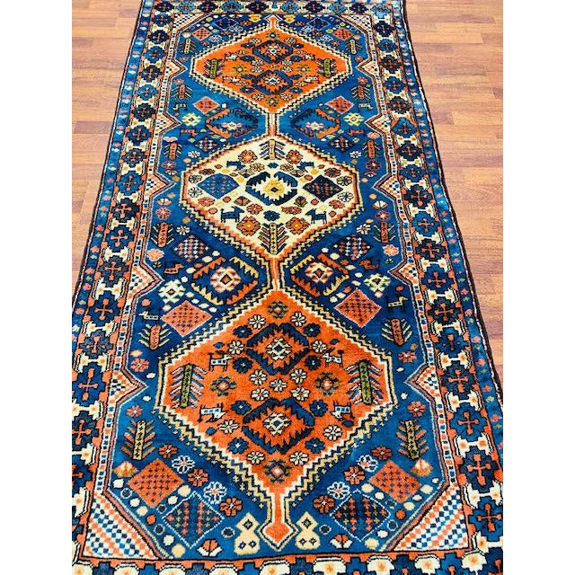 Beautiful vintage Turkish Tribal rug, from Turkey, with a good pile throughout, a complete rug with all original ends and...