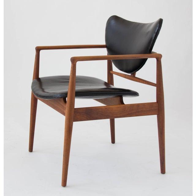 Brown Finn Juhl for Baker Furniture Model 48 Chair For Sale - Image 8 of 9