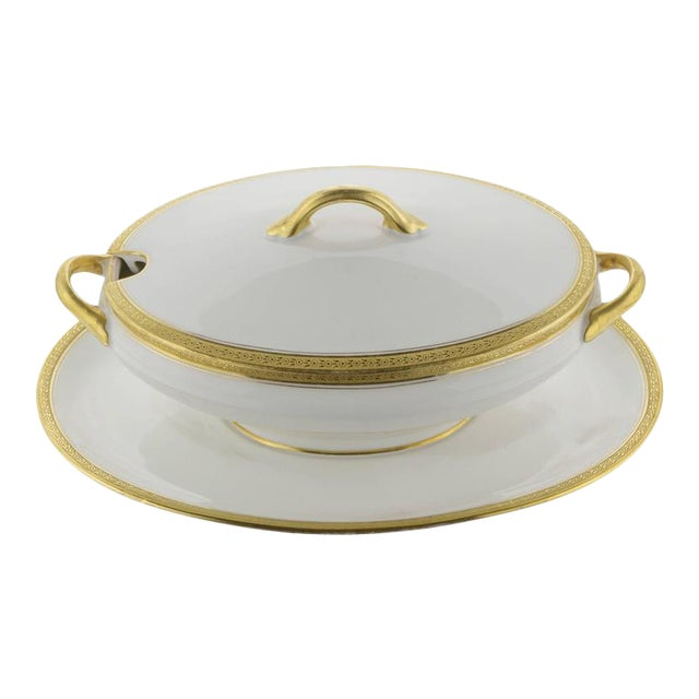 Limoges Cover Sauce Bowl With Platter - Image 1 of 10