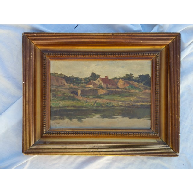 England Cottage On the River Avon Painting - Image 2 of 6
