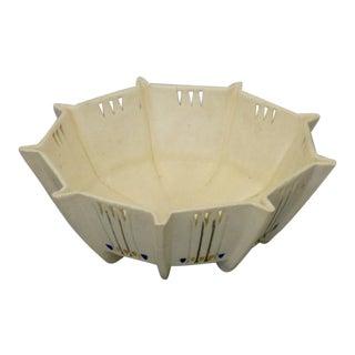 Art Deco Weller Bowl with Pierced Decoration For Sale