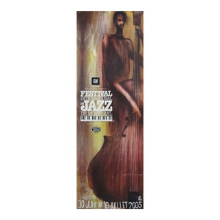 2005 Festival International De Jazz Montreal (Yellow Double Bass) Poster For Sale