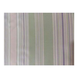 Cowtan & Tout Striped Silk Taffeta Fabric - 4 1/2 Yards For Sale