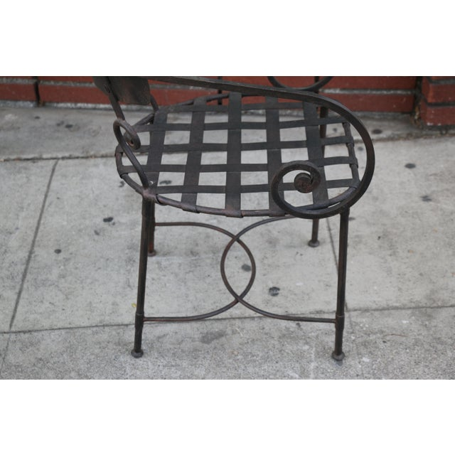 Italian Wrought Iron Dining Set For Sale - Image 9 of 11