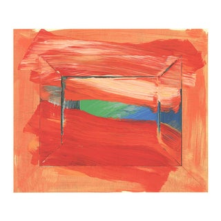 """Howard Hodgkin the Sky's the Limit 30"""" X 33"""" Serigraph 2002 Abstract Red, Orange For Sale"""