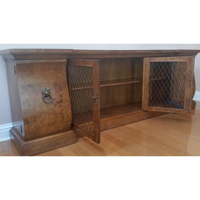 Late 20th Century French-Style Burled Wood Credenza For Sale - Image 5 of 10