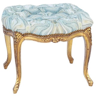 19th Century Louis XV Giltwood Bench