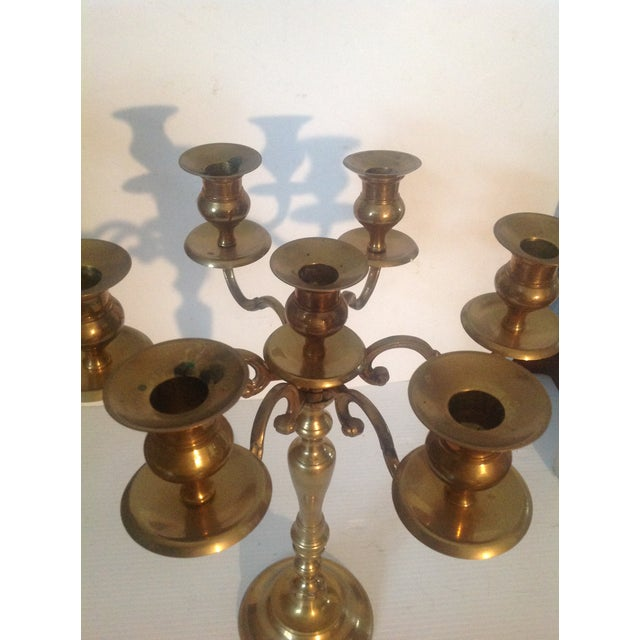 Mid 20th Century Mid Century Brass Candelabra For Sale In Cleveland - Image 6 of 7