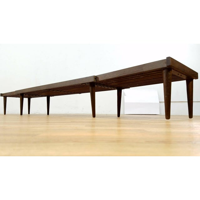 Brown Saltman Slat Bench - Image 9 of 10