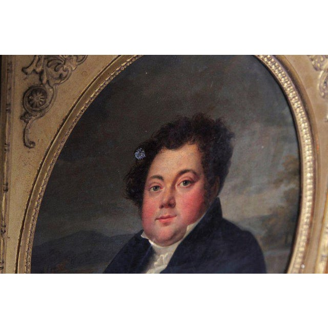 Early 19th Century Early 19th Century French Oil on Canvas of a Man Dressed in Black For Sale - Image 5 of 13