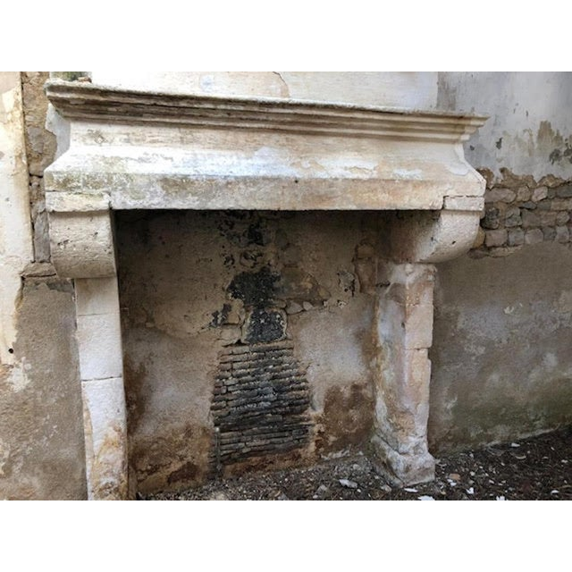 White 17th Century Antique Mantel For Sale - Image 8 of 11
