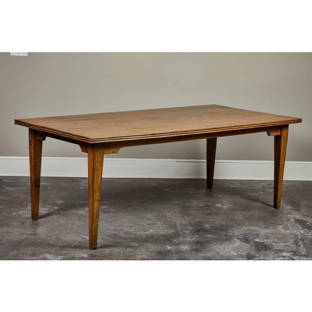 20th C. Indonesian Teak Farm Table For Sale - Image 9 of 9