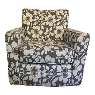 Contemporary Floral Swivel Rocker