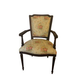 Beacon Hill Upholstered Louis XVI Style Chair For Sale