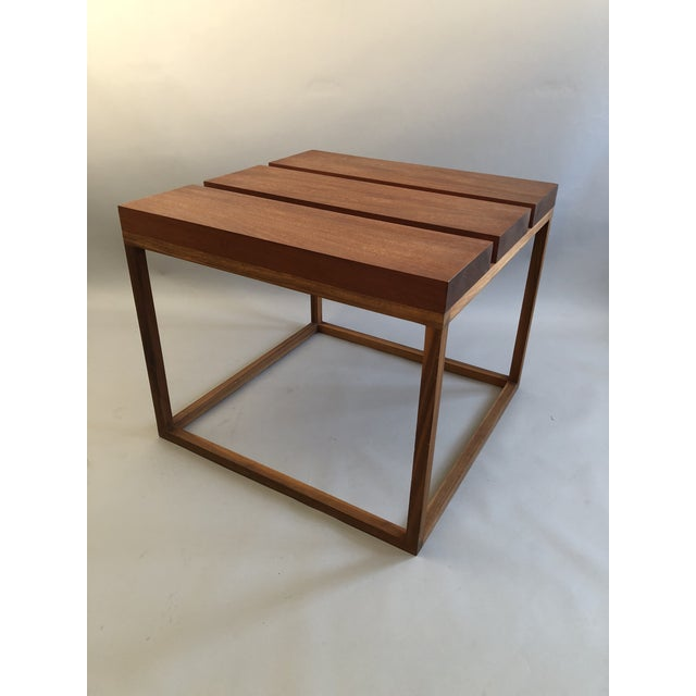Three Block Table in Mahogany by Robert Bristow. Now retailed by Ralph Pucci.