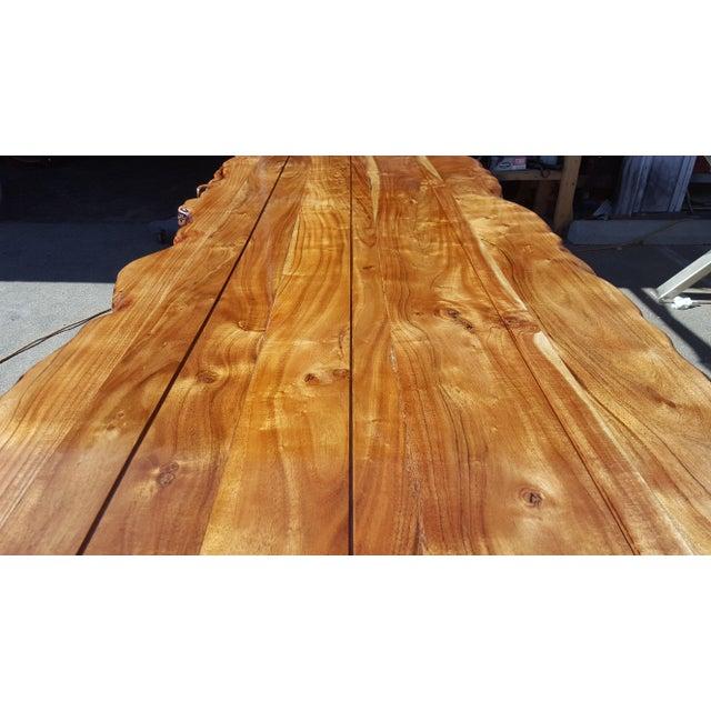 Live Edge Acacia Wood Plank Table - Image 4 of 7