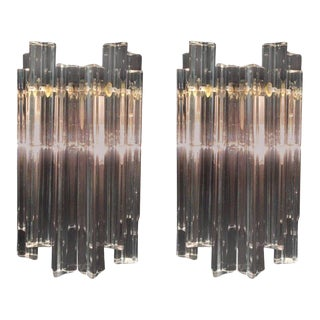 Pair of Murano Glass Wall Sconces by Venini