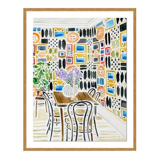 Ready for Conversation by Kate Lewis in Gold Frame, Medium Art Print For Sale