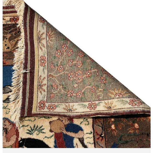 Traditional Traditional Qum Hunting Rug For Sale - Image 3 of 5
